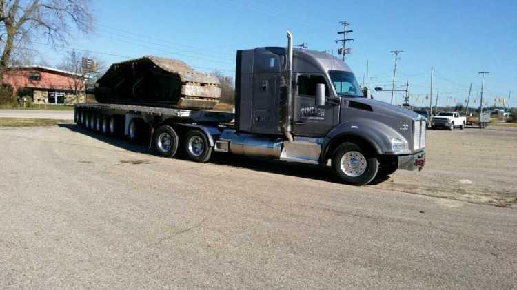 Unit 136 hauling crane track